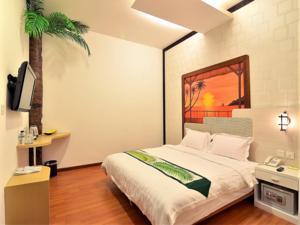 décoration chambre hawai