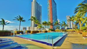 Miami vice properties at one broadway in miami usa best for Miami vice pool design
