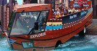 New York City Duck Tour is a unique half-boat, half-bus amphibious